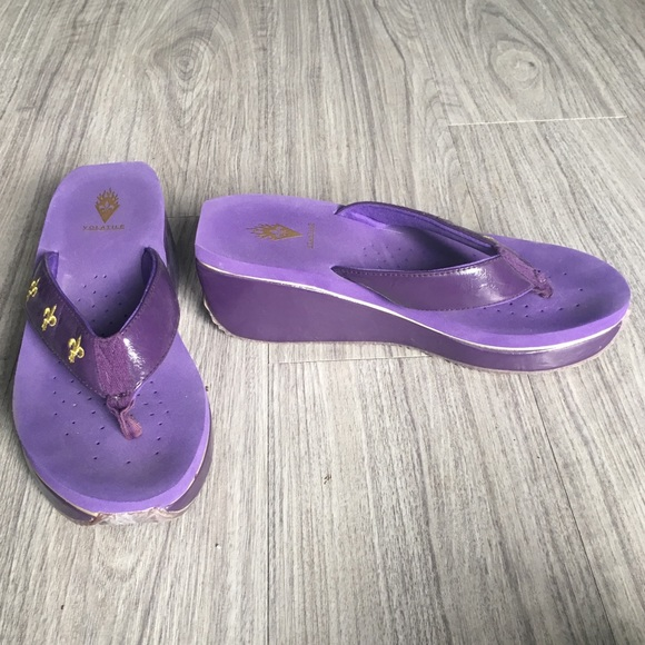 5993d50281e Purple Volatile wedge sandals. M 5aba576e46aa7c8051c4e976